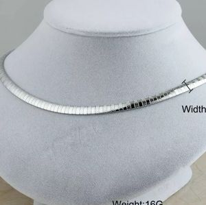 TEXTURED silver Omega 6mm necklace